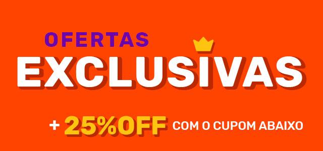 Ofertas exclusivas + 25% off com cupom abaixo